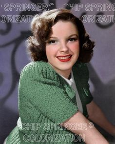5 DAYS! 8X10 JUDY GARLAND & GREEN SWEATER BEAUTIFUL COLOR PHOTO BY CHIP SPRINGER. Please visit my Ebay Store at http://stores.ebay.com/x5dr/_i.html?rt=nc&LH_BIN=1 to see the current listings of your favorite Stars now in glorious color! Message me if you would like me to relist your favorites.