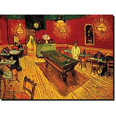 @Overstock - Artist: Vincent Van Gogh  Title: The Night Cafe  Product type: Gallery-wrapped canvas arthttp://www.overstock.com/Home-Garden/Vincent-Van-Gogh-The-Night-Cafe-Canvas-Art/5113434/product.html?CID=214117 $28.99