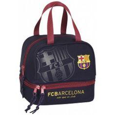 6acb95237aff1 Portameriendas FC Barcelona Amplio compartimento central Compartimento  adicional en la parte inferior Asa en la parte