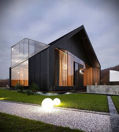 Best Ideas For Modern House Design : – Picture : – Description Chalet 2 by Aleksandr Svyryd Cool House Designs, Modern House Design, Amazing Architecture, Interior Architecture, Design Loft, Building Companies, Building Products, Modern Barn, Post Modern