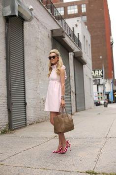 @Blair Eadie // Atlantic Pacific wearing Camilyn Beth 'Go Go Dress' in light pink