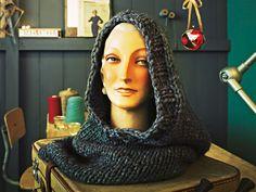 Schlauchschal mit Kapuze stricken / Knitting pattern for hooded scarf (german)