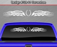 Design #129-01 BUTTERFLY Tribal Celtic Knot  Windshield Decal Window Sticker Car