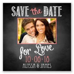 Chalkboard Love Photo - Pool - Save the Date Magnet