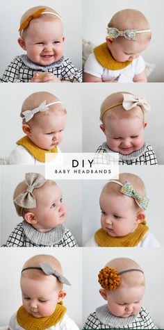 Pretty Little Thing - Nähen - Baby Diy Crafts For Girls, Diy For Girls, Baby Crafts, Kids Diy, Headband Bebe, Diy Baby Headbands, Little Girl Headbands, Baby Girl Bows, Girls Bows