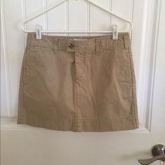 Kaki Gap Mini Skirt Great for everyday summer fun! GAP Skirts Mini