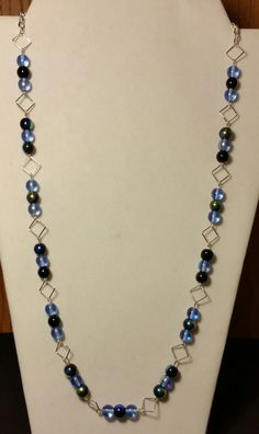 Handmade Beaded Necklace with Sapphire and by KimsSimpleTreasures, $20.00