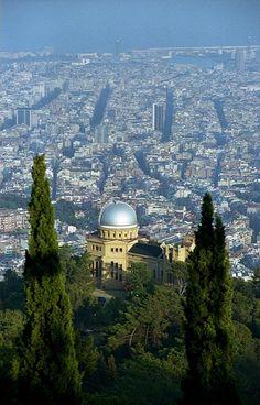 Barcelona desde  l'Observatori Fabra de Barcelona