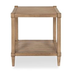 Breakwater Bay Kate and Laurel - Rio Transitional Style Wooden Side Accent Table with Lower Shelf, Dark Grey Colour: Light Brown Low Shelves, Open Shelving, How To Build A Log Cabin, Living Room Arrangements, Cabin In The Woods, Oriental Furniture, End Tables With Storage, Nesting Tables, Living Furniture