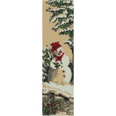 Snowman Peyote Bead Pattern Christmas Bracelet por SmartArtsSupply