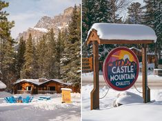 The Cutest Cabin Rentals in Banff and Lake Louise, Alberta – jenn explores - travel, landscape and lifestyle photographer % Banff National Park, National Parks, Fairytale Book, Explore Travel, Cabin Rentals, Cabins, Cold Weather, Woods, Castle