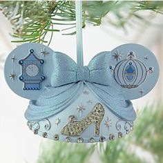 Disney Ear Hat Cinderella Ornament | Disney StoreEar Hat Cinderella Ornament - The hopeful Disney Princess brings her signature style to our Ear Hat Cinderella Ornament. Created by Disney artist Cody Reynolds, this detailed ornament features fairytale elements including sparkling rhinestone slipper and glittering bow.