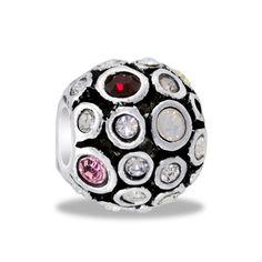 DaVinci Beads Multi-Pink CZ Globe Jewelry