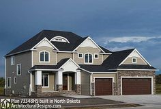 Architectural Designs Exclusive House Plan 73348HS client-built in North Dakota. Plans ready when you are. Where do YOU want to build?