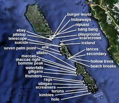 Surf spots in the Mentawais, Indonesia