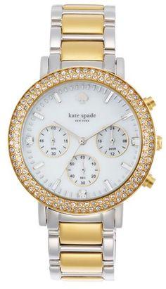 Kate Spade New York 'gramercy Grand' Crystal Bezel Multifunction Bracelet Watch, 38mm