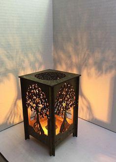 Lámpara de sobremesa lámpara mesa de luz láser corte