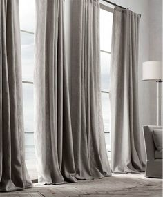Check out the Belgian Textured Linen Drapery in Curtains & Window Coverings, Fabrics & Linens from Restoration Hardware for Curtains With Blinds, Home Curtains, Curtains Living Room, Home, Belgian Linen Curtains, Curtains Living, Grey Curtains, Drapes Curtains, Linen Drapery
