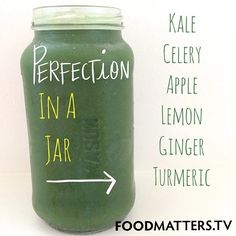 This is what we call perfection in a jar! Green juice is one of the simplest and efficient ways of including extra green vegetables in your diet each day!