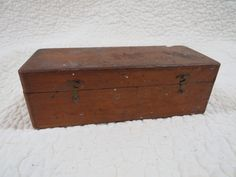 Wood Box covered hook latches Vintage by rarefinds4u on Etsy