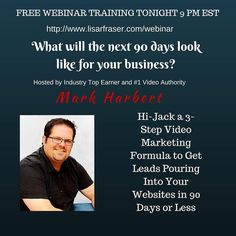 Join us tonight at 9 PM EST FREE Webinar training http://ift.tt/1o8wEQS If you hop on tonight your biz could look dramatically different in 90 days. #networkers #biztip #motivation #mompreneur #wahm  #financialfreedom #momandpop #onlinemarketing  #energydrink #success #firemyboss #bizbuilder #socialmedia #focus #socialmediamarketing #onlinemarketingstrategies #networking #workfromhome #entrepreneur #workathome #workfromhomemom #mindset #quitmyjob #marketingstrategy