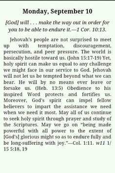Jehovah has got this. It's in the bag ;)