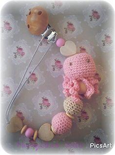 Chupetero Bebé Pulpito Rosa