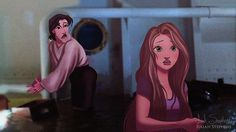 Pin for Later: Feast Your Eyes on This Incredible Disney-Titanic Mashup Art Rapunzel and Flynn