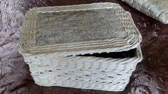 Košík z papírových ruliček