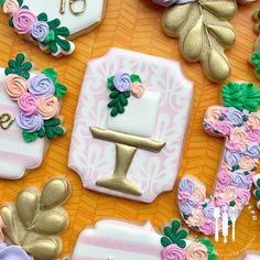 """Stephanie Wolf on Instagram: """"Sweet 16 ° ° ° #chicagocookies #customcookies #decoratedcookies #royalicing #sugarcookies #chicago #cookies #icing #cookiesofinstagram…"""" Cake Cookies, Sugar Cookies, Custom Cookies, Royal Icing, Cookie Decorating, Sweet 16, Sprinkles, Wolf, Desserts"""