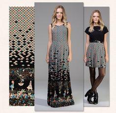Estampa Leques :: Vestido Longo e Saia Curta