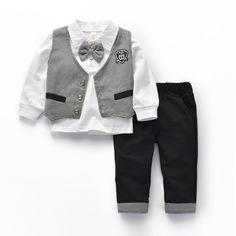 a73595bcfa38 Boy Suits Formal Gentleman Suits Long Sleeve Boys Plaid Vest Suit Brand Kids  Lapal Cotton Shirt