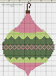 Ornament #cross-stitch #chart