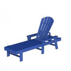 "POLYWOOD South Beach Chaise Lounge (Pacific Blue) (37.25""H x 26.50""W x 75.50""D)"
