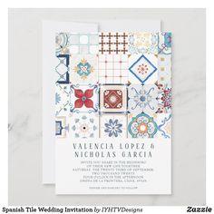 Spanish Tile Wedding Invitation Save The Date Invitations, Wedding Invitation Cards, Save The Date Cards, Invites, Wedding Stationery, Spanish Wedding Invitations, Party Invitations, Invitation Ideas, Wedding Cards