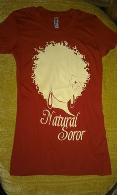 DELTA SIGMA THETA Natural Soror Shirt by AuNaturelDiva on Etsy, $24.00