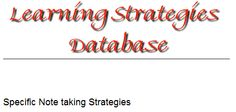 More note taking strategies: http://www.muskingum.edu/~cal/database/general/notetaking1.html