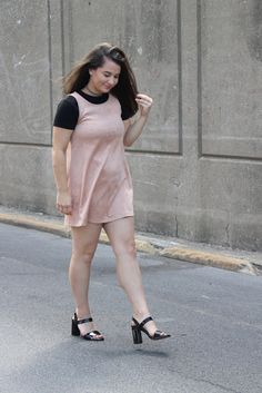 Blush Suede Dress | The Gold Dime