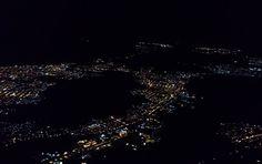 Algum lugar  #citylights #night #city #flight #cidade #noite #luzes #voo #viagem #azul #nordeste #brasil