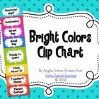 This brightly colored clip chart would have your students excited about trying to clip up to outstanding.  The clip chart is based off the clip cha...