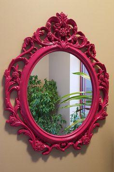 SALE Princess Mirror / Decorative Mirror/ by pinkelephants03