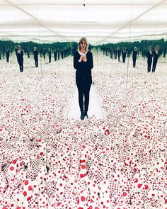 This infinity mirror room by Yayoi Kusama was asking for a selfie