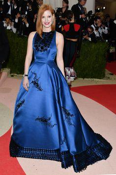 2016 Met Gala - Jessica Chastain in Prada - HarpersBAZAAR.co.uk