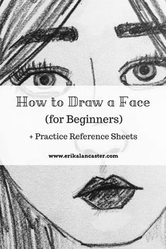 Face Drawing Reference, Drawing Skills, Drawing Techniques, Learn Drawing, Drawing Faces For Beginners, Sketch Ideas For Beginners, Face Sketch, How To Sketch Faces, How To Draw Faces