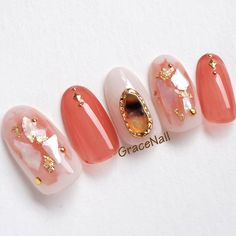 - All For Hair Color Trending Orange Nails, Red Nails, Hair And Nails, Korean Nail Art, Korean Nails, Asian Nail Art, Shellac Nails, Nail Manicure, Love Nails