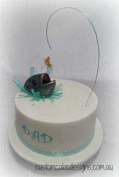 Splashing Fish Cake - Cake by Custom Cake Designs