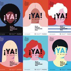 Madrid City Council campaign for the International .- Kampagne der Madrider Stadtverwaltung zum Internationalen Frauentag 2018 Madrid City Council campaign for International Women's Day 2018 the Day - Layout Design, Design De Configuration, Graphisches Design, Logo Design, Typography Design, Print Design, Branding Design, Design Styles, Design Model