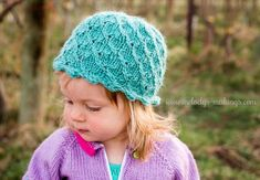 Free Knitting Pattern for Antique Pearl Hat for All Sizes - Lace beanie in sizes Months, Month Baby, Toddler Years, Child, Adult. Designed by Melody Rogers. Baby Hat Knitting Pattern, Baby Hats Knitting, Easy Knitting Patterns, Lace Knitting, Baby Patterns, Knitted Hats, Knitting Ideas, Free Crochet, Knit Crochet