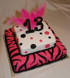 birthday cake 13 years