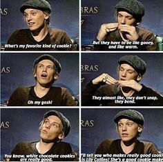 Jamie Campbell Bower on his favorite kind of cookie :)